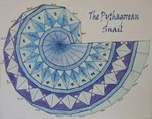 The Pythagorean Theorem Snail
