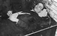 Hans Frank after being hanged.