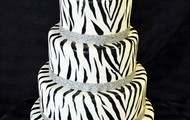 Sweet 16 Zebra Themed Birthday Cake
