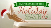 Pamper Yourself This Holiday Season!!