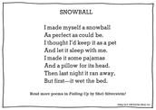 Snowball by Shel Silverstein