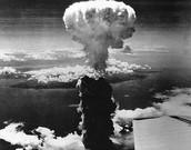 The atom bomb in Hiroshima, Japan