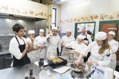 Level 2 Students in a Gelato Workshop