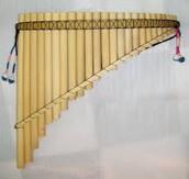 Exemple de flauta de pan