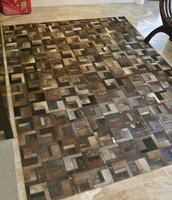 Cow Hide Patch Rug