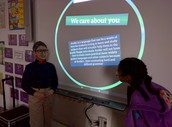 M. Monib and Fatima presenting their research!!