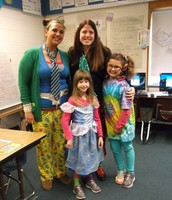 Mrs. Magner and Miss Whitfield Pose With Students