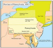 Map of Colonial Pennsylvania