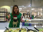 Christina G. rocking the pug sweater in Elgin