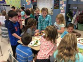Veggie party with Mrs. Siegle's class!