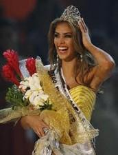 Miss Universo venezolana.