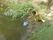 Boy Fishing for Water