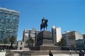 Statue of Jose Gervasio Artigas in Montevideo