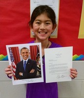 Persuasive Writing Leads to Letter from President Obama