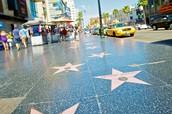 Los Angeles famous Star sidewalk.
