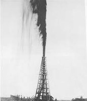 The first oil strike was on Spindletop Hill