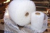 A roll of bubblewrap