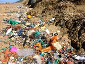 Plastic Polluted Shore Of Morocco