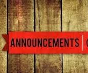 Announcements!