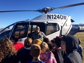 APD Helicopter Visit on Career Day!