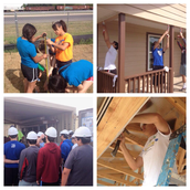 Students at Habitat for Humanity