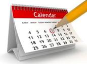 Mark Your Calendar.....