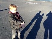 Learning about light and shadows in Mrs. Beckstead's class.
