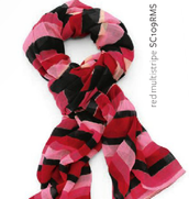 Luxembourg Scarf - Red Multi-stripe was $59 now $18.50