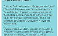 Why did they choose the name Origami Owl?