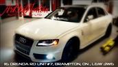 White Audi S4