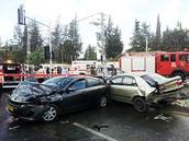 שניים מכלי הרכב שנפגעו בתאונה