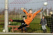 Paul Fisher as goalkeeper
