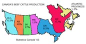 Where can beef be found in Canada
