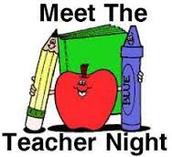 MEET THE TEACHER NIGHT - Wednesday, September 9th