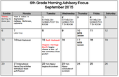 6th Grade - Click to Enlarge