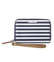 Chelsea Tech Wallet - Navy Stripe