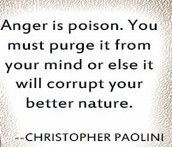 How does anger take away our sense of right and wrong?
