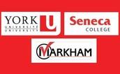 Markham, York U, and Seneca