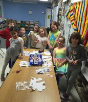Our stamp creators during recess