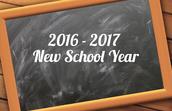 2016-2017 School Year Plan
