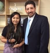 Insisiengmay Receives Teacher Mustang Award