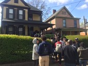 Our scholars outside of the childhood home of MLK Jr.