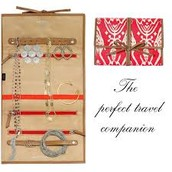 Jewelry Roll Bring It - Red Ikat