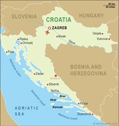 This is a map of croatia and its srounding countries