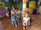 The class says Hi to Addison and sends a pic because she is home sick.