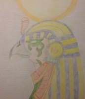Tekening Egyptische god Ra
