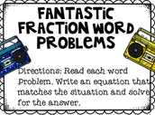 Fantastic Fraction Word Problems