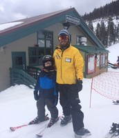 Marshall with his ski instructor