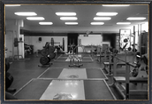 This is our weight  room open from 4 a.m to 3 a.m