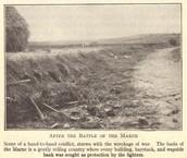 On the banks of Marne, near Paris in France. September 5, 1914 - September 12, 1914